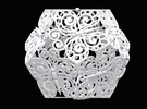 Butterfly Dodecahedron 02 in White Strong & Flexible
