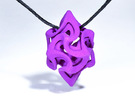 Flame Rhomb Pendant in Purple Strong & Flexible Polished