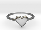 Heart-ring-solid-size-10 in Polished Silver