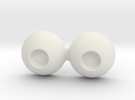 18mm Small Pupil Doll eyes in White Strong & Flexible