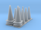 1/35 Road Cone Set in Frosted Ultra Detail