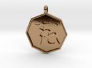 Hana(flower) pendant in Polished Brass