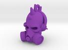 DJ Punk Skull Keychain in Purple Strong & Flexible Polished