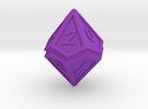Split D10 in Purple Strong & Flexible Polished