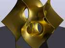 Batwing sculpture, 15cm (6 inch) in Polished Gold Steel