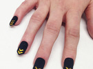 Chevron Nails (Size 3) in Black Strong & Flexible