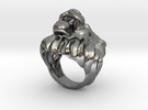 Lion ring size 7- in Premium Silver