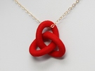 Trefoil Pendant - Small in Red Strong & Flexible Polished
