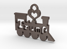 Trump Train Victory Pendant in Stainless Steel
