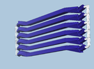 6 medium navy struts in Blue Strong & Flexible Polished