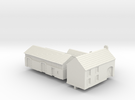 1:350 Two farm houses. in White Strong & Flexible