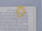 Bookmark Monogram. Initial / Letter Q              in Yellow Strong & Flexible Polished