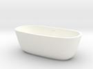 1:48 Scale Bath Tub in White Strong & Flexible Polished
