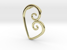 Swirl Heart Pendant - Original Reproduction in 18k Gold Plated