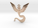 POKEMON Team Mystic (Blue) Pendant SMALL in 14k Rose Gold Plated