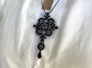 Antique style Pendant 1 in Black Strong & Flexible