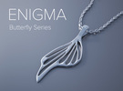 Enigma Butterfly Series Pendant in White Strong & Flexible