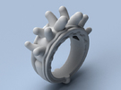 Sticky Fingers - Size 12 (21.49 mm) in Polished Silver