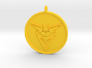 Pokemon Go - Instinct Team Pendant - WITH YOUR NAM in Yellow Strong & Flexible Polished