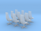 TOS Chair 1:32 - 8+1 for Bridge Model in Frosted Ultra Detail