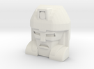 Gobots Badboy Face (Titans Return) in White Strong & Flexible