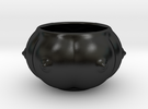 6-breasts shaped ceramic ashtray/desert bowl in Matte Black Porcelain