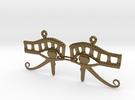 Eye Of Horus EarRings - Pair - Metal in Polished Bronze