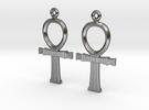 Ankh EarRings - Pair - Precious Metal in Premium Silver