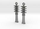 Djed EarRings - Pair - Precious Metal in Premium Silver