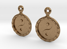 YinYang EarRings 1 - Pair - Metal in Raw Brass