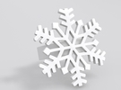 Snowflake Ring Size 7 in White Strong & Flexible