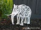 Digital Safari- Elephant (Large) in White Strong & Flexible