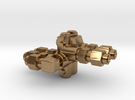 "Detroit Oil Distributor 4-way RH_1.5"" scale in Raw Brass"