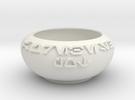 Custom Aurebesh Pot in White Strong & Flexible