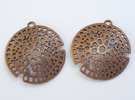 Radiolarian earrings in Polished Bronze Steel