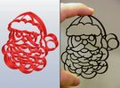 Santa Claus Cookie Cutter (3 layers, 10 mm) in White Strong & Flexible