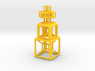 SCULPTURE COLLECTION 2 HyperCubes 1 Cross in Yellow Strong & Flexible Polished