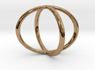 Two Circles Ring in Polished Brass