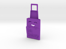SLEEP Phone Charger Holder in Purple Strong & Flexible Polished