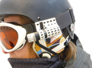 Camsports: mount for skigoggles in White Strong & Flexible