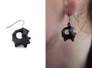 Earrings Hear in Black Strong & Flexible
