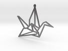 Crane Pendant S in Polished Nickel Steel