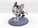 Cat Playing with Toy Mouse  in Full Color Sandstone