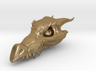 Dragon Skull Pendant - 3DKitbash.com in Polished Gold Steel