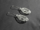 Cairo Basket Earrings in Polished Silver