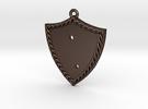 Bleeding Rose Shield - Piece 1 of 2 in Matte Bronze Steel
