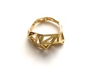 Brass Slim Triangulated Ring in Polished Brass: 7 / 54