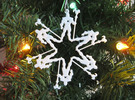 Snowflake Skeletor Ornament in White Strong & Flexible