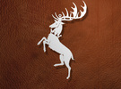 Baratheon Ornament / Pendant in White Strong & Flexible