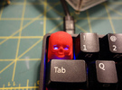 Cherry MX Skull Keycap in Red Strong & Flexible Polished